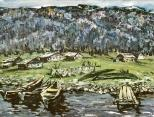 北の村絵画